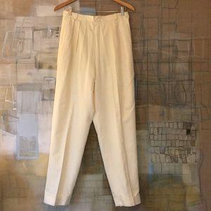 Per Se 100% Silk Trousers with Cuffs